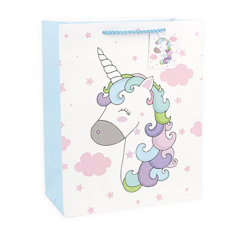 Подарочный пакет Halluci «Кудрявый Единорог» M