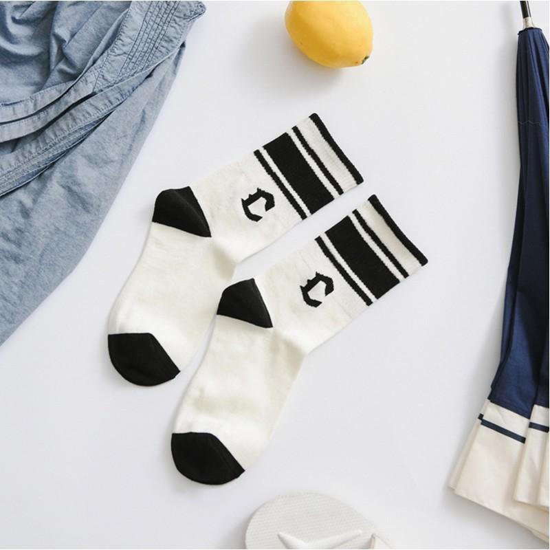 Носки  «Клетка» чёрные