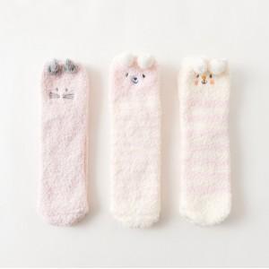 Набор мягких носков «Зефирки» с помпонами, 3 пары