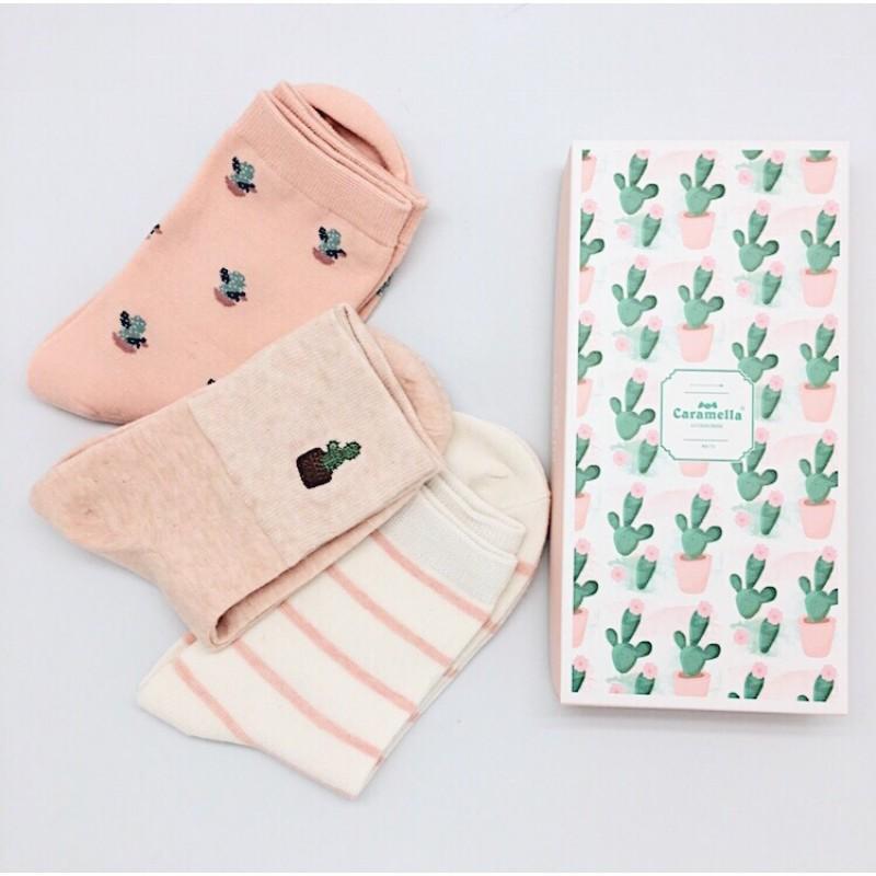 Набор носков «Кактусы», 3 пары
