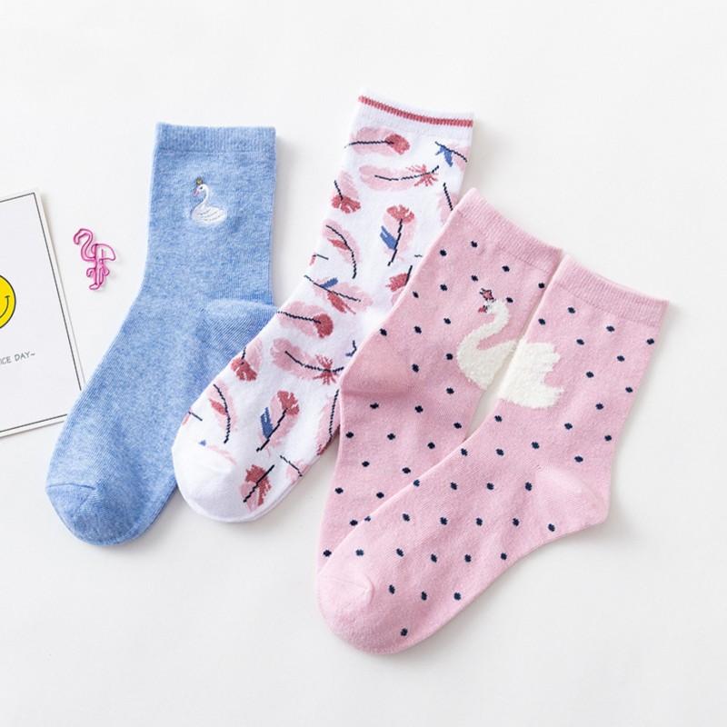 Набор носков «Лебеди», 3 пары