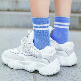 Носки «Спорт» бело-голубые
