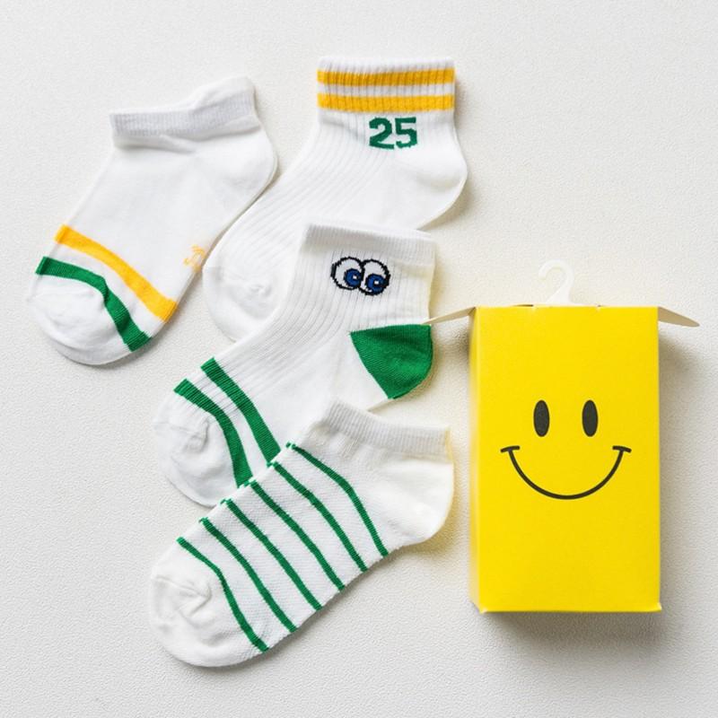 Набор носков «Смайл» зеленые, 4 пары