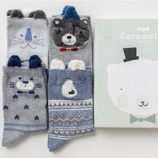Набор носков «Белый мишка», 4 пары