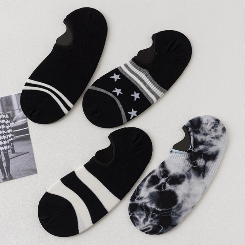 Носки мужские «Черно-белые» короткие