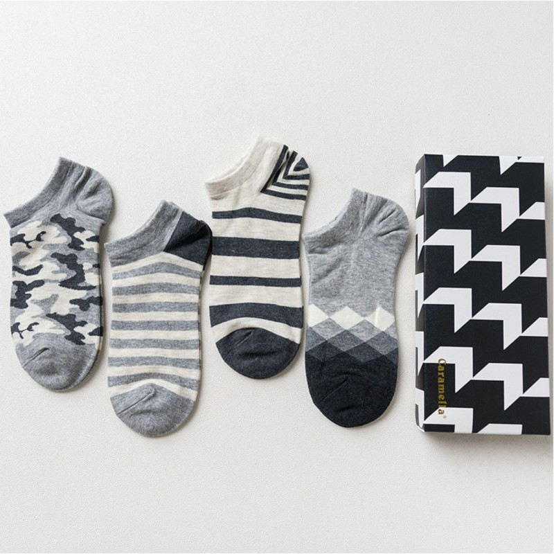 Набор мужских носков «Бело-черные-3», 4 пары