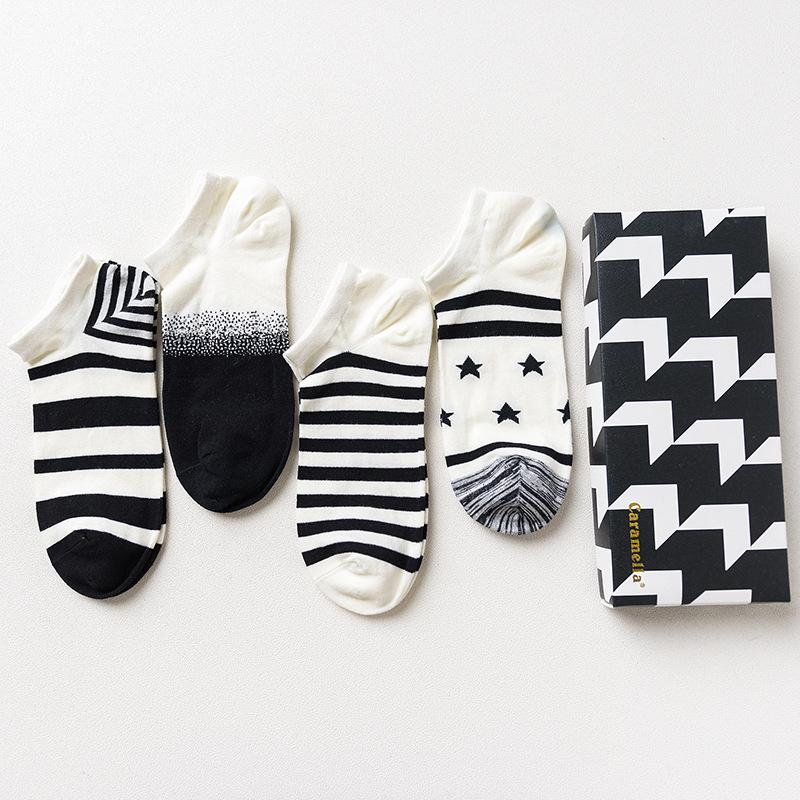 Набор мужских носков «Бело-черные», 4 пары