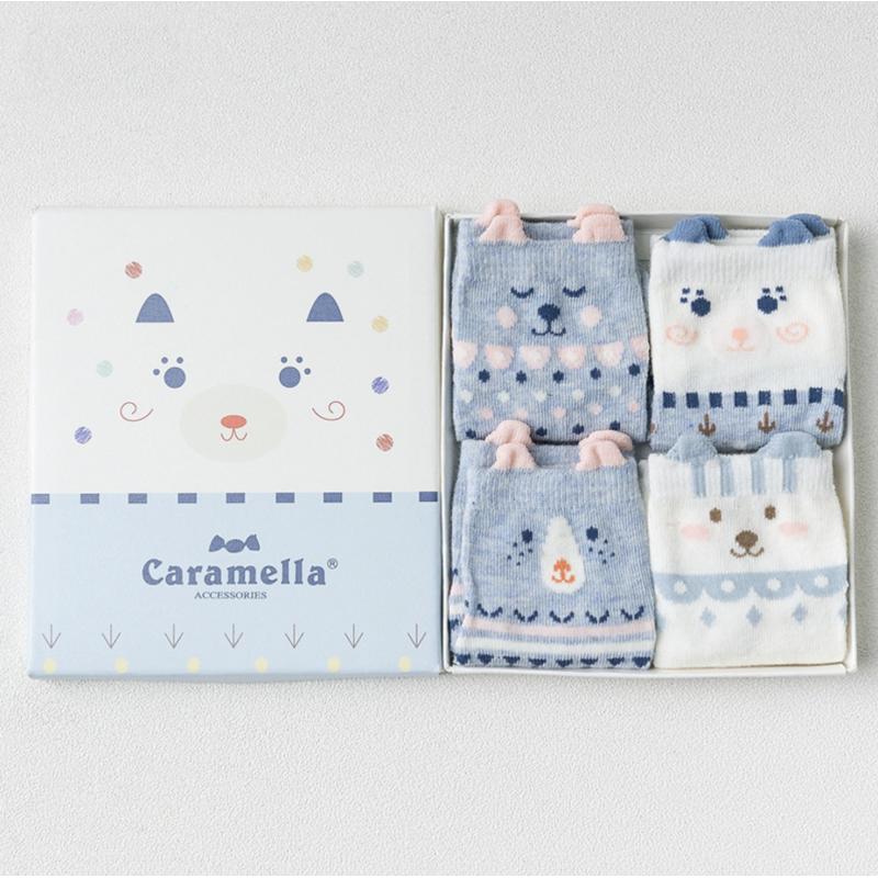 Набор носков «Мишки» голубые, 4 пары
