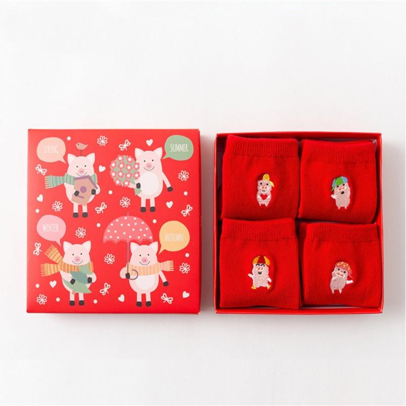 Набор детских носков «Свинки», 4 пары