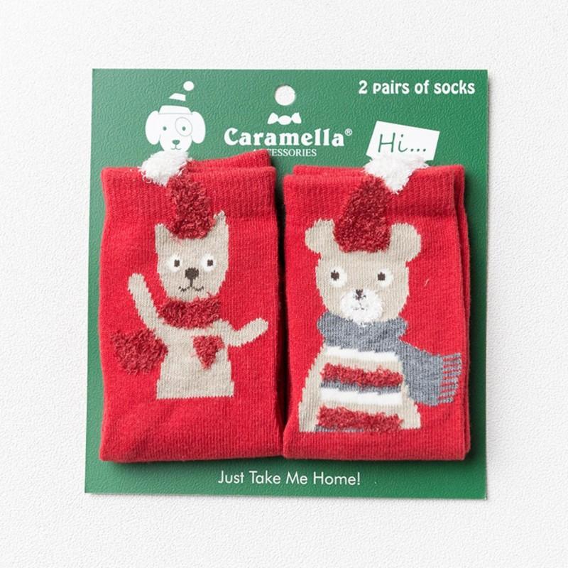 Носки детские «Котик и мишка», 2 пары