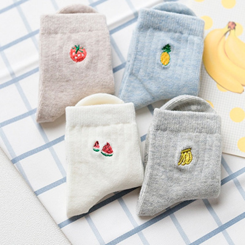 Набор детских носков «Фрукты», 4 пары