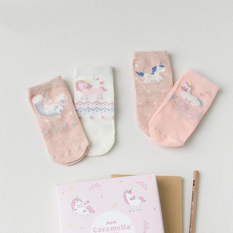 Набор детских носков «Единороги», 4 пары