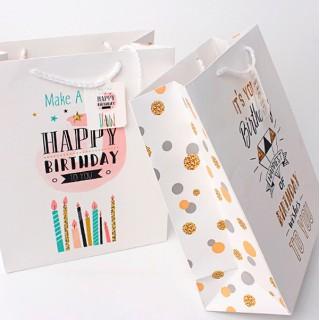 Подарочный пакет Halluci «Birthday» L