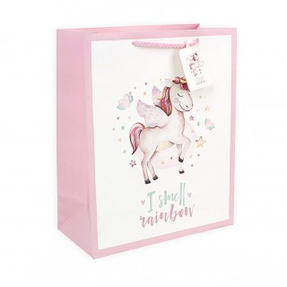 Подарочный пакет Halluci «I smell rainbow» L