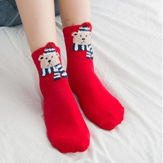Носки «Рождественские» красно-синие
