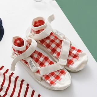 Носки «Клетка» красные