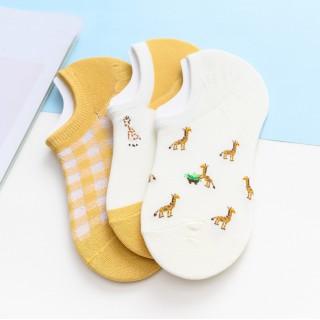 Набор носков  «Жирафы» короткие в мягкой упаковке, 3 пары