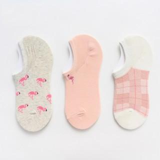 Набор носков «Фламинго-2» короткие в мягкой упаковке, 3 пары