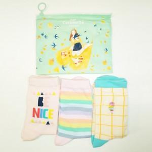 Набор носков «Be nice» в мягкой упаковке, 3 пары