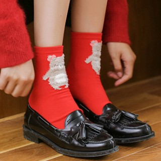 Носки «Рождественские-2» красные
