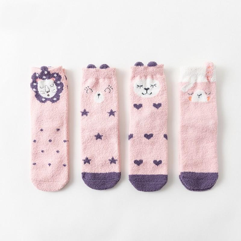 Носки мягкие «Зверята» розовые