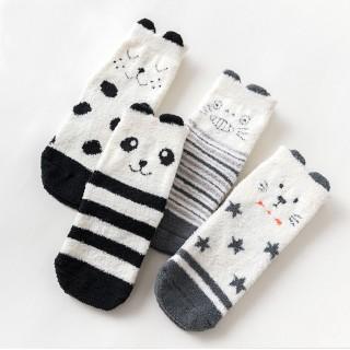 Носки мягкие «Зверята» черно-белые