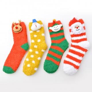 Набор мягких носков «Новогодние друзья», 4 пары