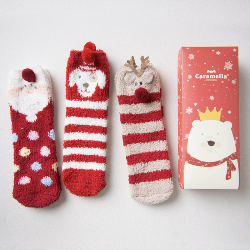 Набор мягких носков новогодний «Зимние», 3 пары