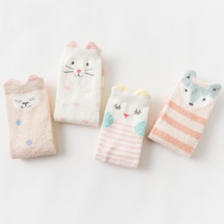 Набор мягких носков «Спящая овечка», 4 пары