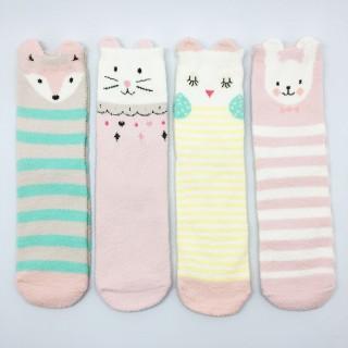 Набор мягких носков «Зайчики», 4 пары