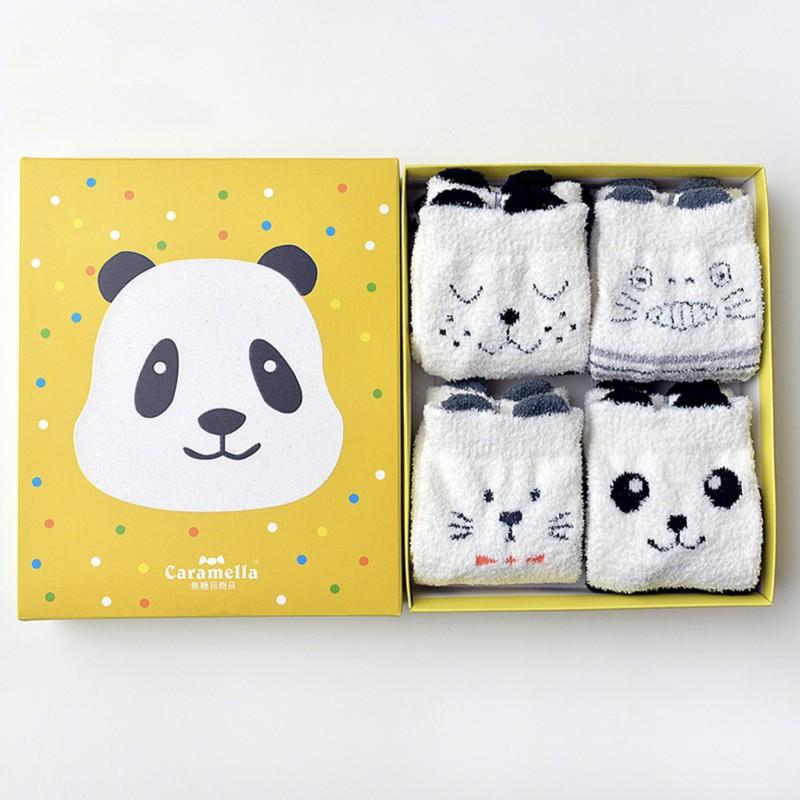 Набор мягких носков «Панда», 4 пары