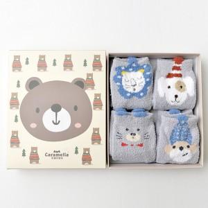Набор мягких носков «Мишки в лесу», 4 пары