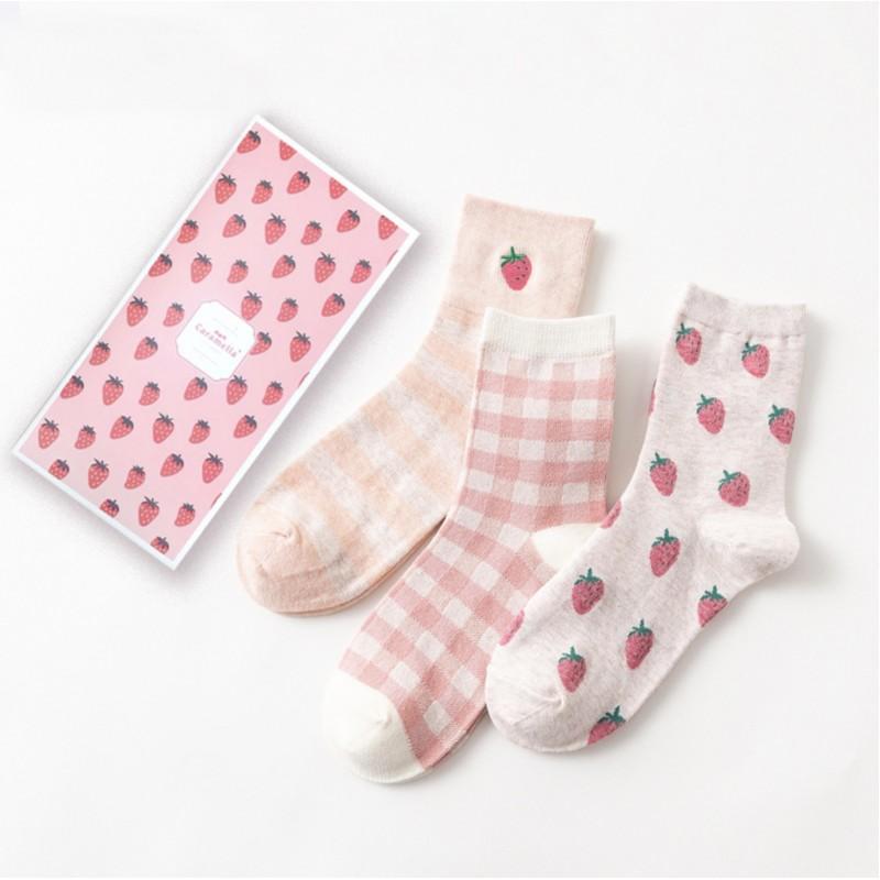 Набор носков «Клубнички», 3 пары