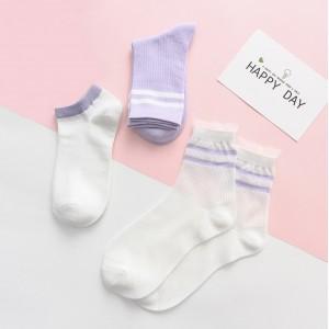 Набор носков «Спорт» фиолетовые в мягкой упаковке, 3 пары