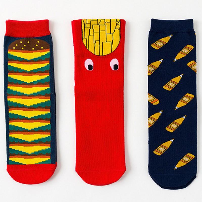 Набор носков «Фаст фуд» в мягкой упаковке, 3 пары