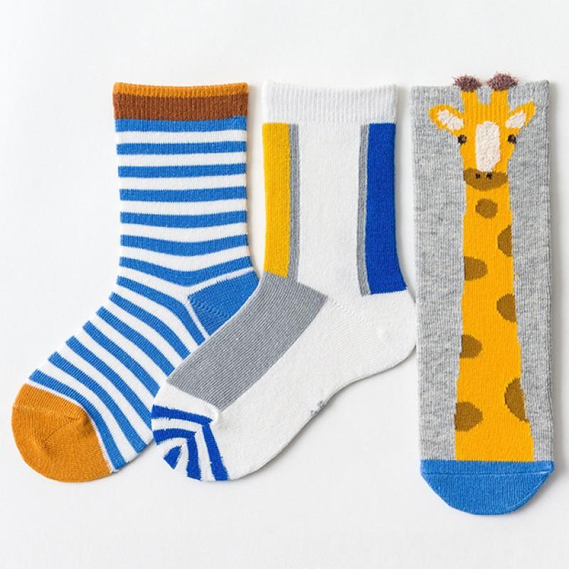 Набор детских носков «Жираф» в мягкой упаковке, 3 пары