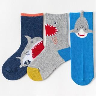 Набор детских носков «Акулы» в мягкой упаковке, 3 пары