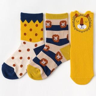 Набор детских носков «Львёнок» в мягкой упаковке, 3 пары
