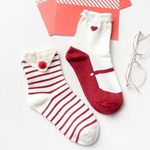 Носки «Шарики» красно-белые