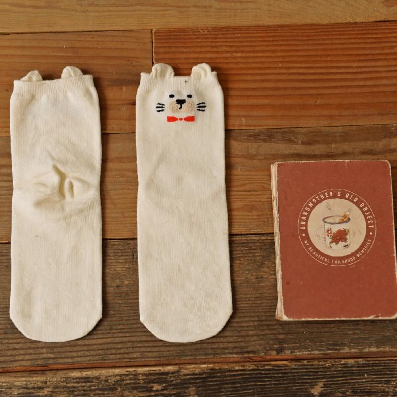 Носки «Мишки» белые