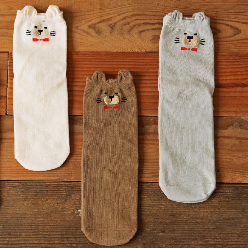 Носки «Мишки» серые