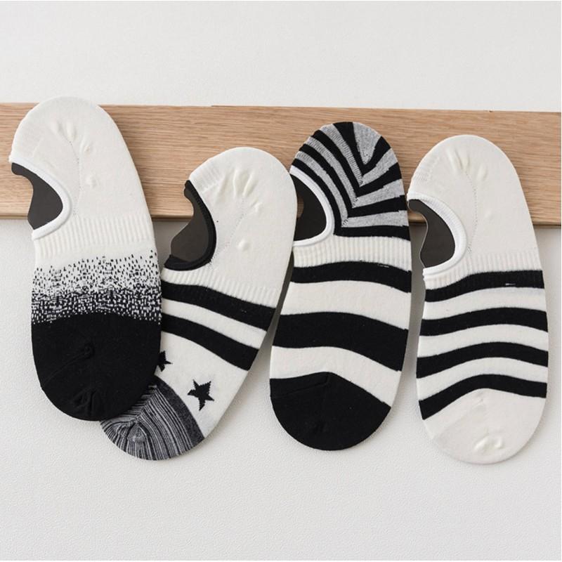 Носки мужские «Бело-черные» короткие