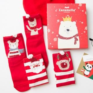Набор носков новогодний «Полярный мишка», 4 пары