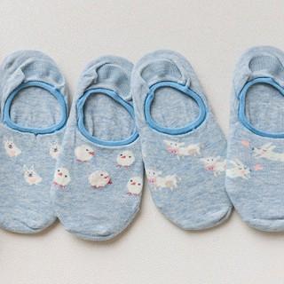 Набор носков «Животные-2» голубой, 4 пары