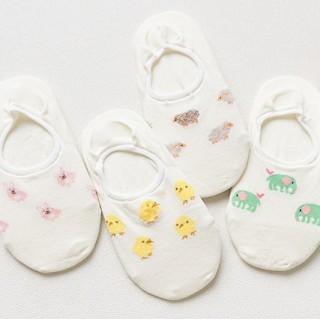 Набор носков «Животные-2» белый, 4 пары