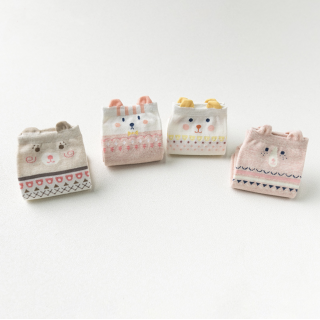 Набор детских носков «Котик» розовый, 4 пары