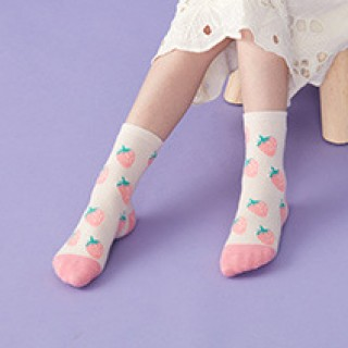 Набор детских носков «Клубника» в мягкой упаковке, 3 пары