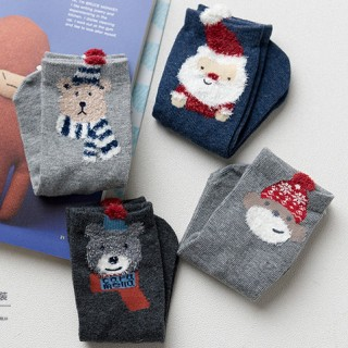 Набор детских носков «Мишка путешественник», серый 4 пары