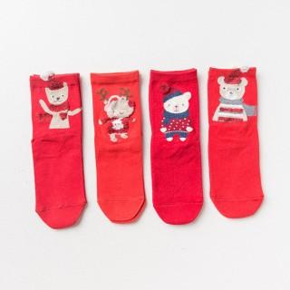 Набор детских носков новогодний «Ослик путешественник», 4 пары