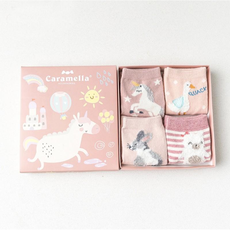 Набор детских носков «Весёлый единорог», 4 пары